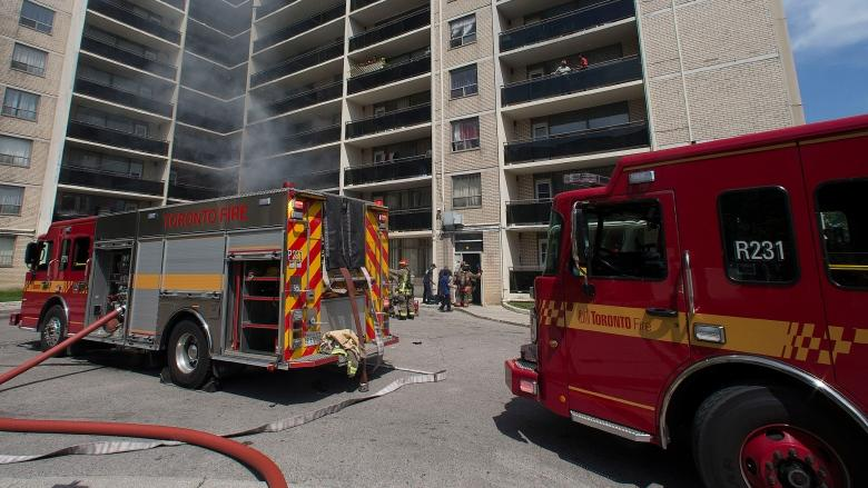 Woman in her 30s in life-threatening condition after fire in Scarborough apartment