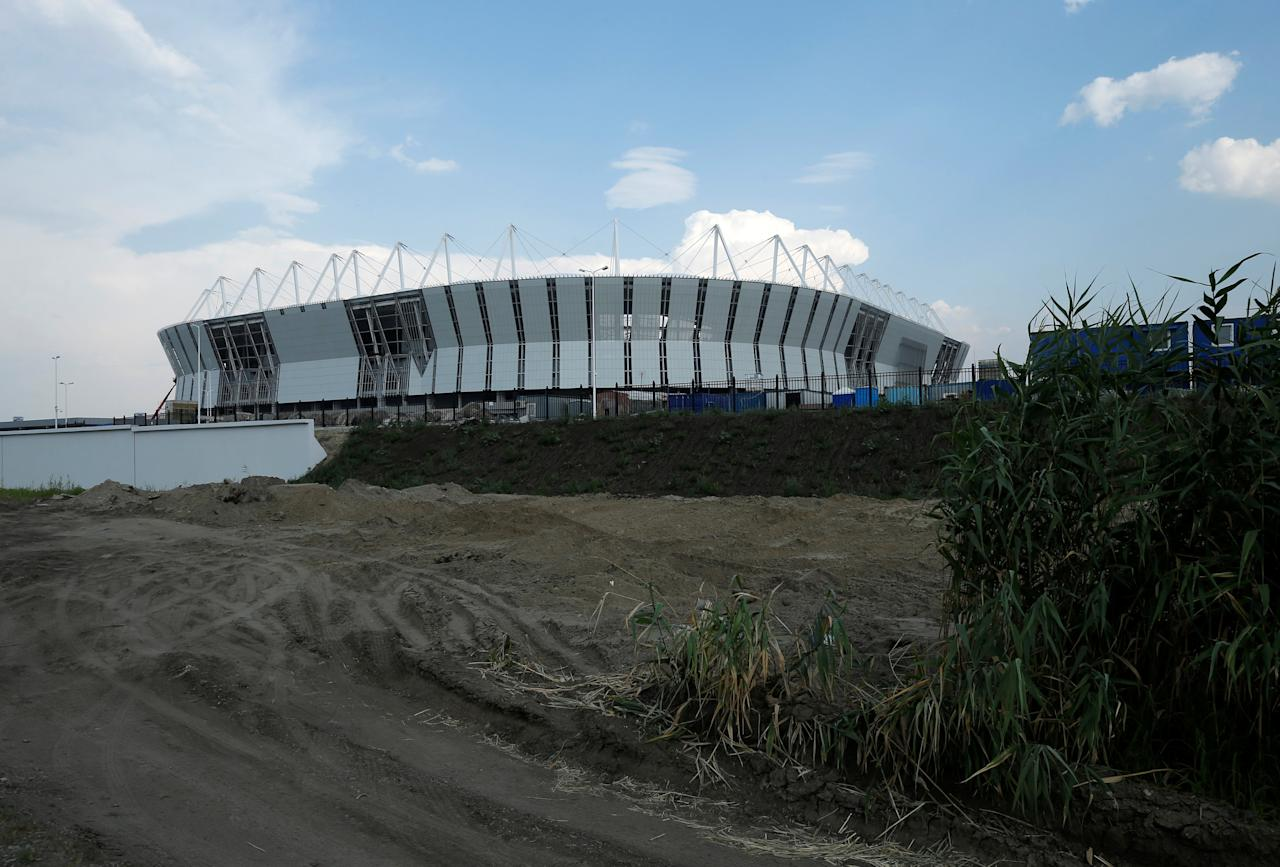 The Rostov Arena stadium is seen under construction ahead of the 2018 FIFA World Cup in Rostov-On-Don, Russia, July 23, 2017. REUTERS/David Mdzinarishvili
