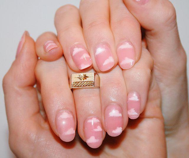 """<p>A pink sky manicure is sweet and cute and can be worn all year, not just on V-Day.</p><p><a href=""""https://www.instagram.com/p/B6NifH1nBD5/"""" rel=""""nofollow noopener"""" target=""""_blank"""" data-ylk=""""slk:See the original post on Instagram"""" class=""""link rapid-noclick-resp"""">See the original post on Instagram</a></p>"""