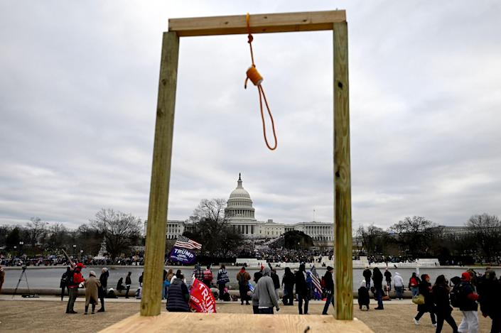 Image: Noose at U.S. Capitol (Andrew Caballero-Reynolds / AFP - Getty Images)