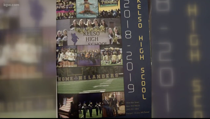 "A Kelso, Washington school district misspelled the word ""School"" in its yearbook, one of two oversights. (Screenshot: KGW)"