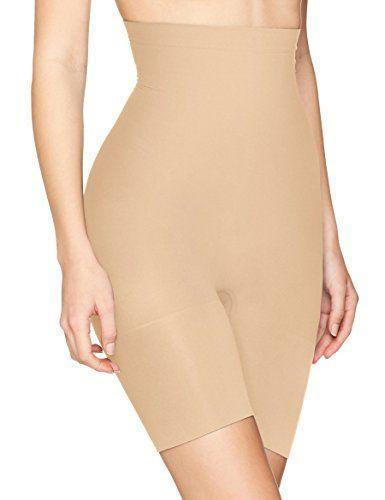 "<p><strong>Spanx</strong></p><p>amazon.com</p><p><strong>$37.20</strong></p><p><a href=""http://www.amazon.com/dp/B00SJ1R1KE/?tag=syn-yahoo-20&ascsubtag=%5Bartid%7C10055.g.2815%5Bsrc%7Cyahoo-us"" rel=""nofollow noopener"" target=""_blank"" data-ylk=""slk:Shop Now"" class=""link rapid-noclick-resp"">Shop Now</a></p><p>This do-it-all style <strong>shapes your thighs, butt, and hips with extra emphasis on the tummy</strong>. The higher rise is designed to get rid of muffin tops and there's a no-slip waistband to help it stay in place. The best part is you can wear it all day: The lightweight, seamless fabric offers medium firmness, so it'll smooth without feeing like you can't breathe.</p>"