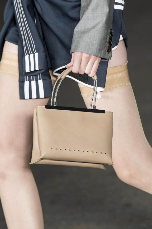 <p><i>Tan top-handle bag from the SS18 Alexander Wang collection. (Photo: ImaxTree) </i></p>