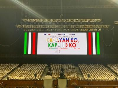 """2020 Jan 05- Iglesia Ni Cristo (Church of Christ) relaunches the banner theme """"Kabayan Ko, Kapatid Ko,"""" at the Philippine Arena for its larger anticipated international humanitarian projects in 2020. (HO: FYM Foundation) (CNW Group/Felix Y. Manalo Foundation, Inc.)"""