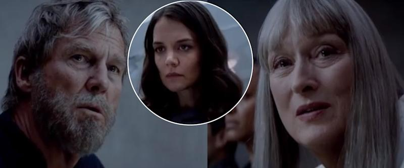 Jeff Bridges, Katie Holmes, and Meryl Streep in 'The Giver'