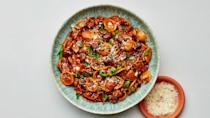 """<a href=""""https://www.bonappetit.com/recipe/pasta-with-lentils-and-mushrooms?mbid=synd_yahoo_rss"""" rel=""""nofollow noopener"""" target=""""_blank"""" data-ylk=""""slk:See recipe."""" class=""""link rapid-noclick-resp"""">See recipe.</a>"""