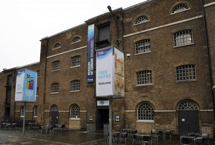 One of the skeletons will be displayed at the Museum of London Docklands (Rex)