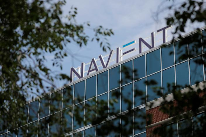 Signage is seen on the offices of Navient in Wilmington, Delaware, U.S., June 9, 2021. REUTERS/Andrew Kelly