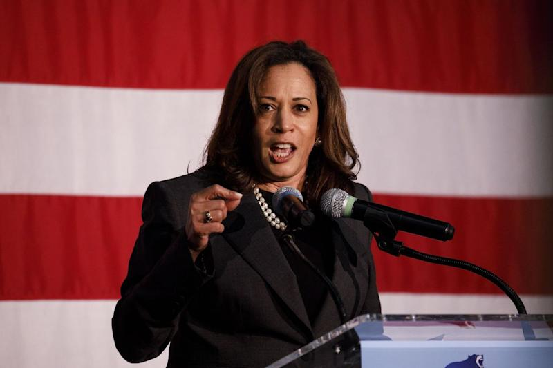 Harris Says Trump Guilty of `Crimes Against Humanity' on Border