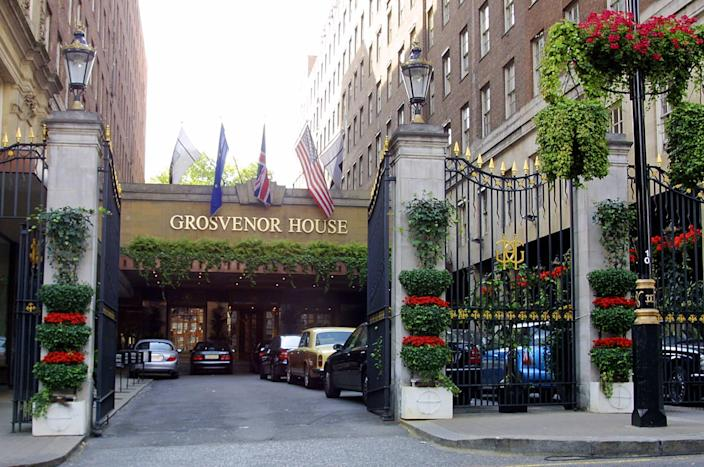 The back of the Grosvenor House hotel in London, pictured on September 30, 2003 (AFP Photo/Joshua Roberts)