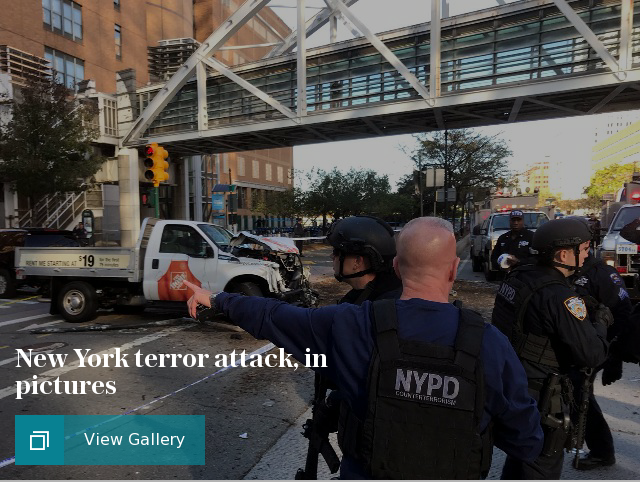 New York terror attack, in pictures