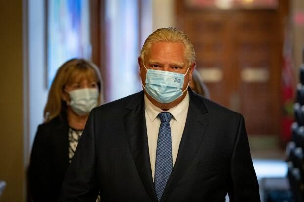Ontario Premier Doug Ford provided an update on the province's new vaccine passport system at a press conference Wednesday. (Evan Mitsui/CBC - image credit)