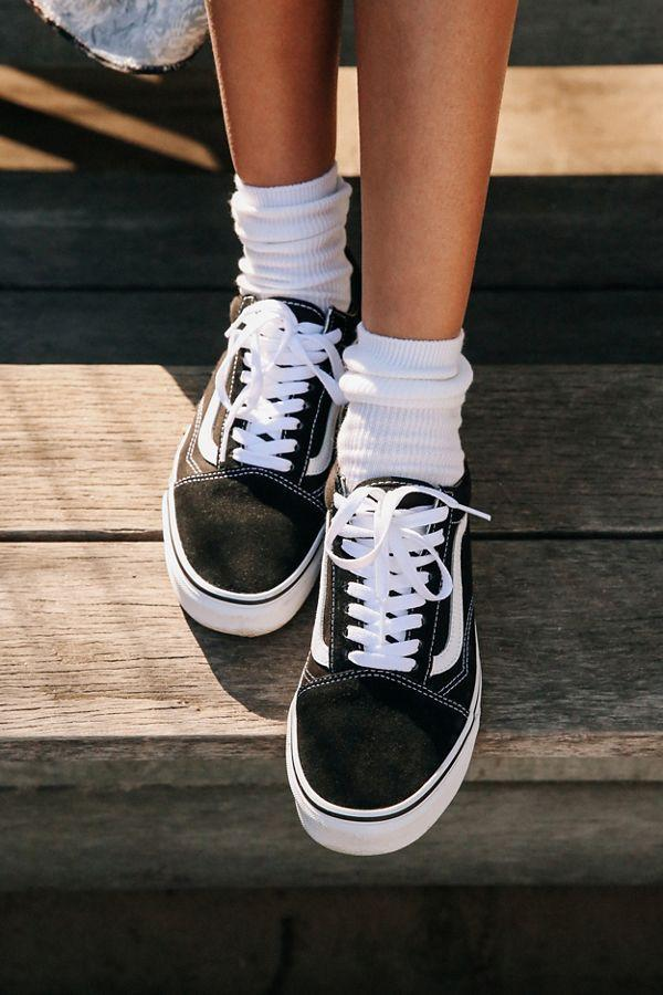 """<h3><strong>Vans Old Skool Platform Sneaker</strong></h3><br><strong>Why It's A Best Buy</strong>: These kicks are about as classic and transitional as they come — with a modern platform twist. The OG skate-shoe turned high-style staple can be dressed up with everything from slip dresses to silk midi skirts or down with a pair of distressed denim or workout shorts.<br><br><strong>The Review</strong>: """"These shoes go with absolutely EVERYTHING! The platform is not too high yet still remains trendy and the simple design assures a match with almost anything. They are now a staple to my closet and I wear them every day!"""" <em>– Van's Reviewer</em><br><br><strong>Vans</strong> Old Skool Platform Sneaker, $, available at <a href=""""https://go.skimresources.com/?id=30283X879131&url=https%3A%2F%2Ffave.co%2F2I2Rlx3"""" rel=""""nofollow noopener"""" target=""""_blank"""" data-ylk=""""slk:Nordstrom"""" class=""""link rapid-noclick-resp"""">Nordstrom</a>"""