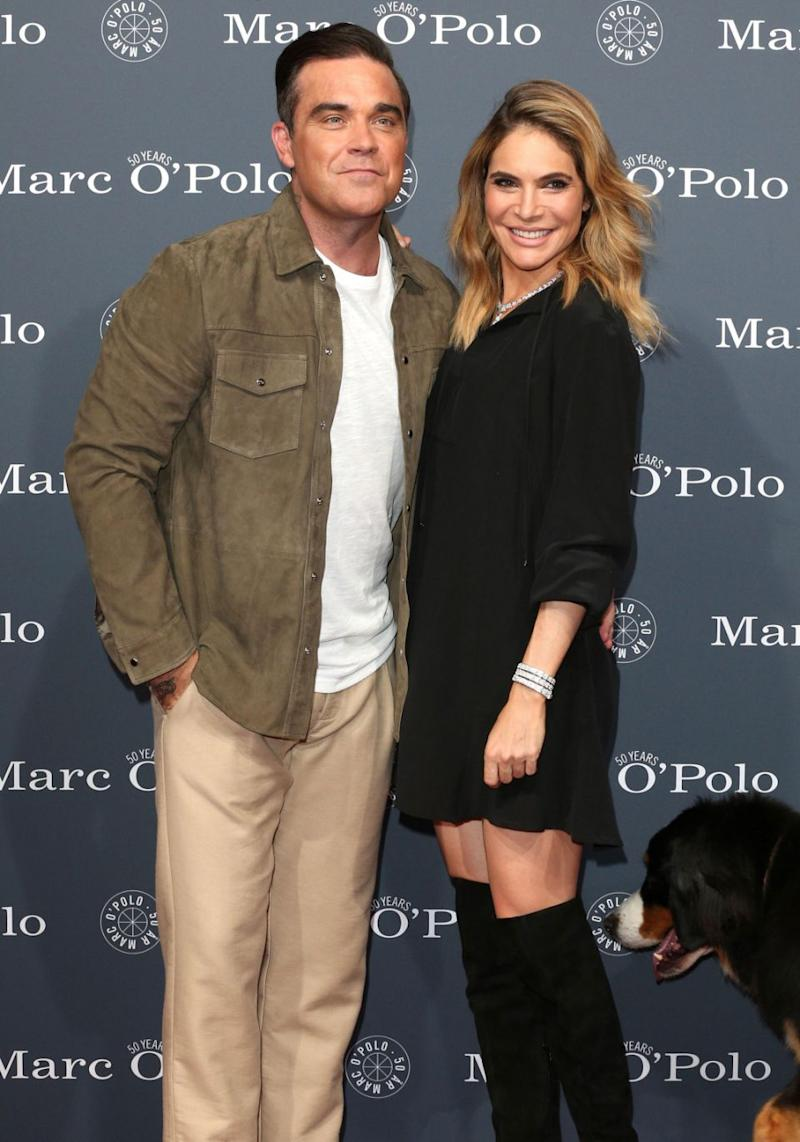 Robbie pictured with wife Ayda. Source: Getty