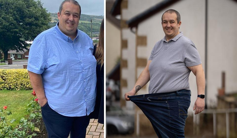 Matthew Howe lost 10 stone in around six months. (SWNS)