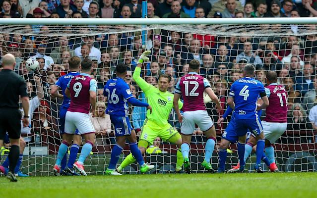 <span>Gabriel Agbonlahor hits the back of the net</span> <span>Credit: REX FEATURES </span>