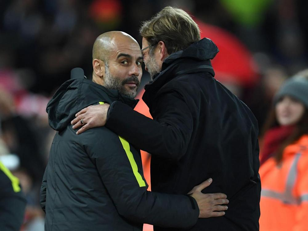 Klopp says Guardiola is still getting used to 'the hardest league in the world' (Getty)