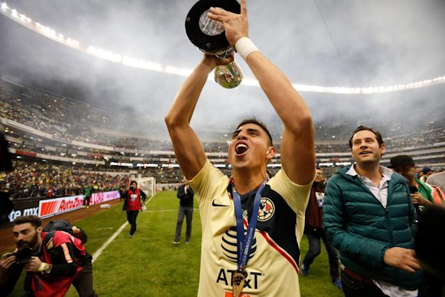 Corona helped Club America win a Liga MX title last season while on loan from Tijuana. (AP/Rebecca Blackwell)