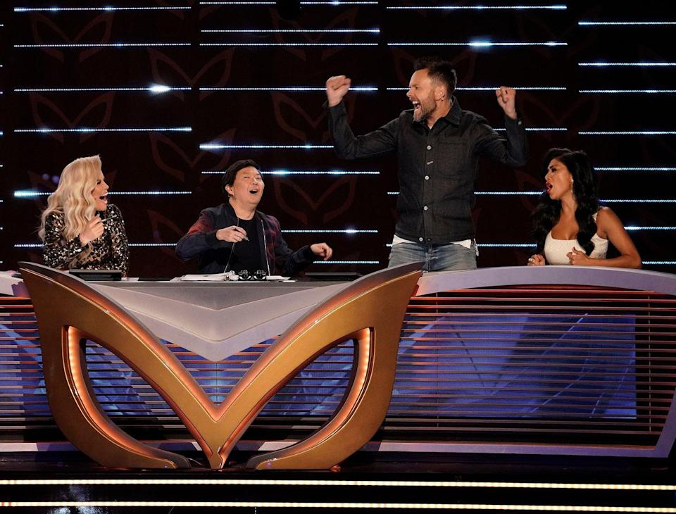 """<p>Executive producer Izzie Pick Ibarra told <a href=""""https://www.eonline.com/news/1016590/the-masked-singer-reveals-intense-secret-keeping-measures-in-behind-the-scenes-video#photo-949399"""" rel=""""nofollow noopener"""" target=""""_blank"""" data-ylk=""""slk:E! News"""" class=""""link rapid-noclick-resp"""">E! News</a> that panelists were just asked to, """" ... voice the first thought that is going on in their head because what we were trying to do was to have them help you at home to be accumulating information.""""<br></p>"""