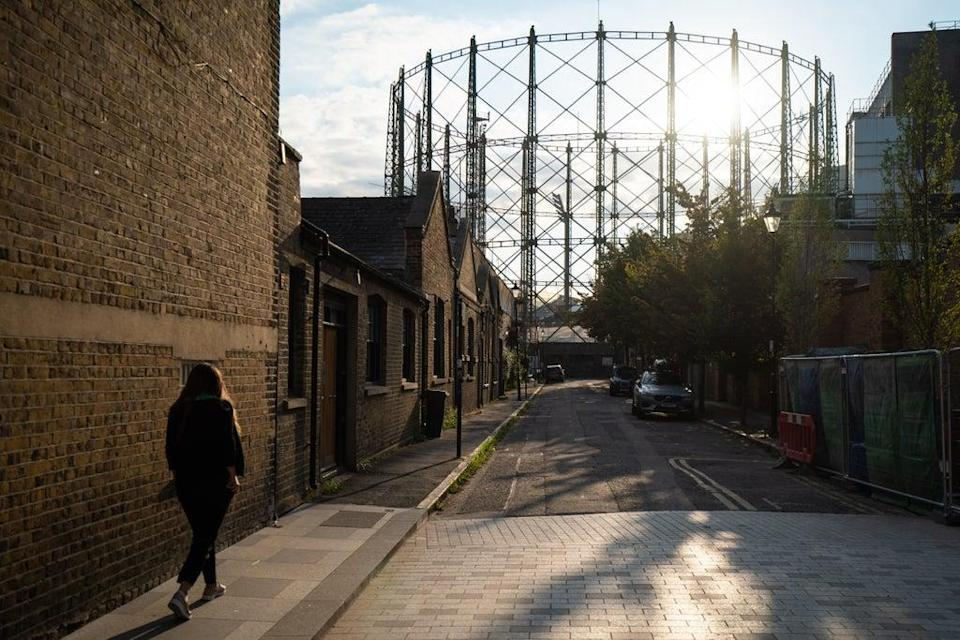 General view of a disused gas holder in central London. Now the glass industry says its cost could rocket (PA) (PA Wire)