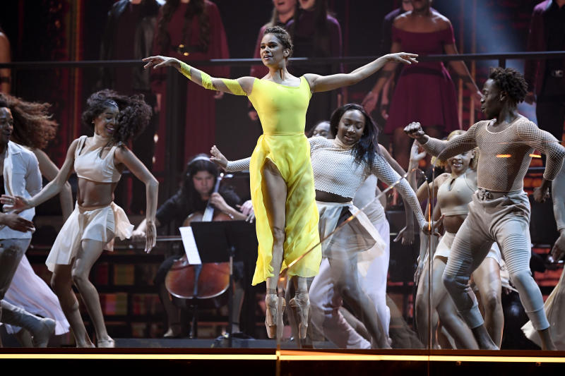 LOS ANGELES, CALIFORNIA - JANUARY 26: Misty Copeland performs onstage during the 62nd Annual GRAMMY Awards at Staples Center on January 26, 2020 in Los Angeles, California. (Photo by Kevork Djansezian/Getty Images)