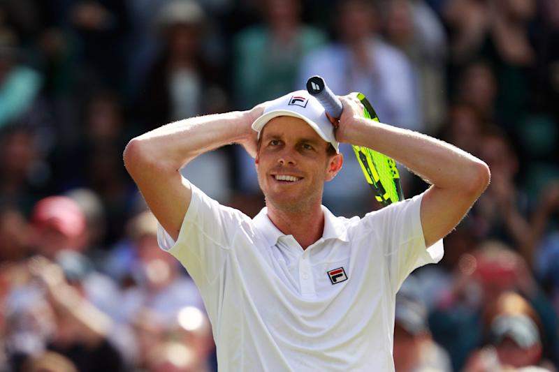 US tennis player Sam Querrey tested positive for coronavirus with his wife and eight-month-old son while in Russia for the St Petersburg Open (Getty Images)