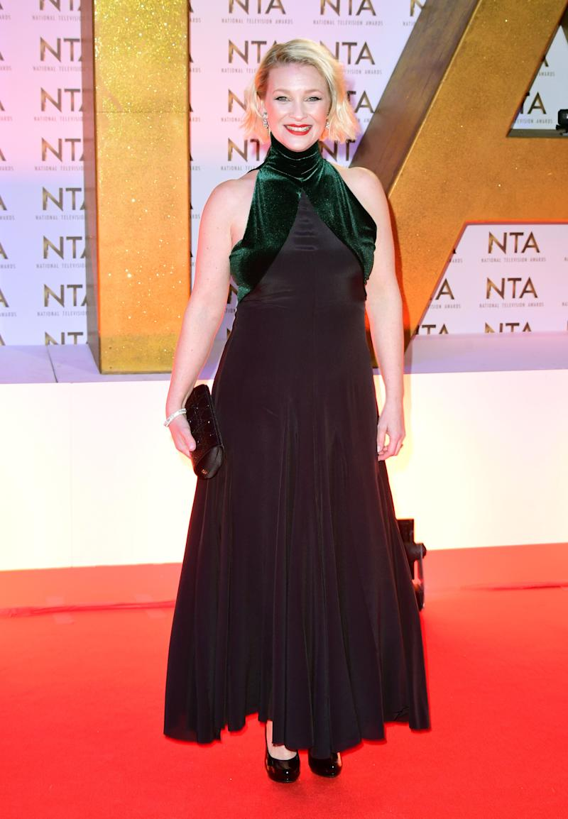 Joanna Page during the National Television Awards at London's O2 Arena. (Photo by Ian West/PA Images via Getty Images)
