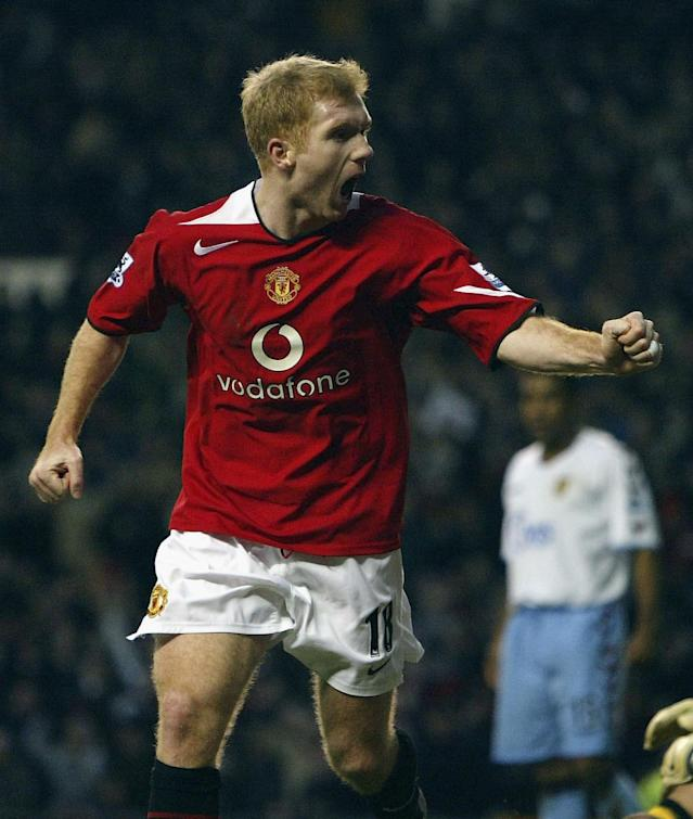 <p>Scholes scores goals was the 1990s mantra and the long-serving Manchester United midfielder netted all of his for the Reds. </p>