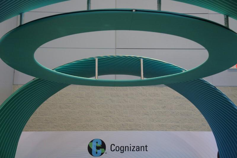 FILE PHOTO: The Cognizant logo is seen at the SIBOS banking and financial conference in Toronto, Ontario, Canada October 19, 2017. REUTERS/Chris Helgren - RC1A79D69890