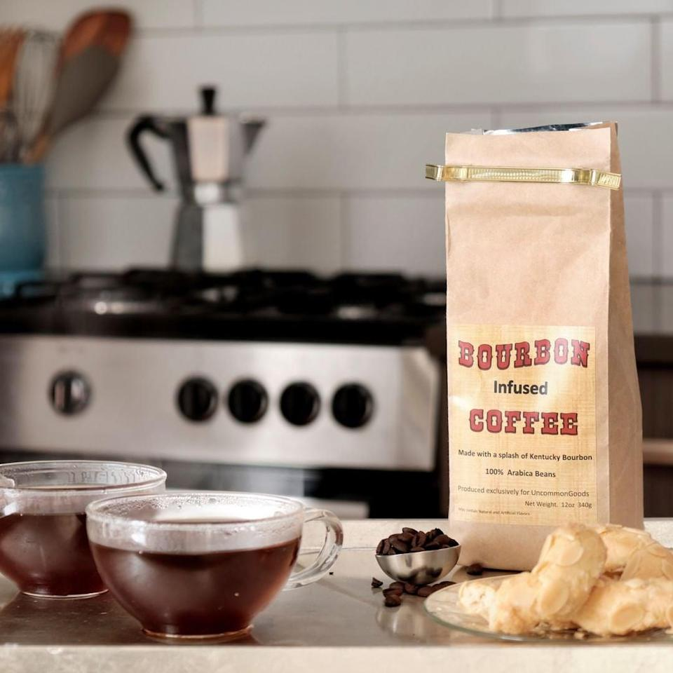 <p>They'll be excited to try this <span>Bourbon Infused Coffee</span> ($20), which are made from 100% Arabica beans. Don't you wonder how it tastes too?</p>