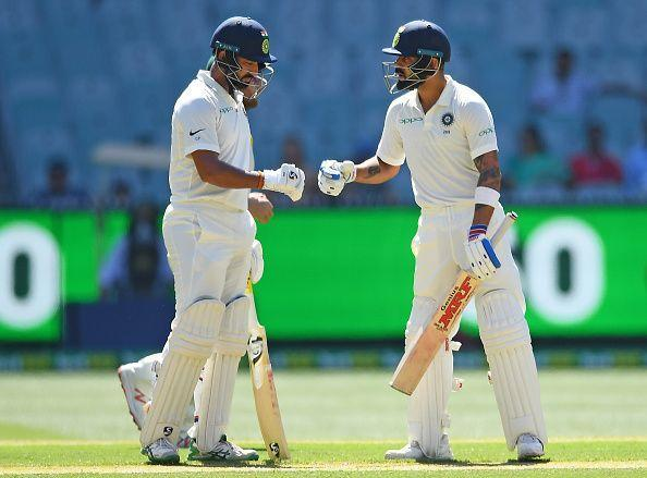 Virat Kohli (right) and Cheteshwar Pujara scripted few of the great individual knocks in 2018
