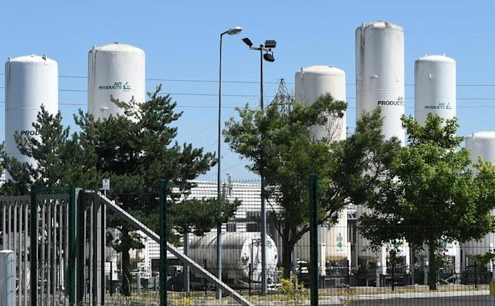 The Air Products gas factory in Saint-Quentin-Fallavier near Lyon on June 28, 2015, two days after a suspected Islamist attack (AFP Photo/Philippe Desmazes)