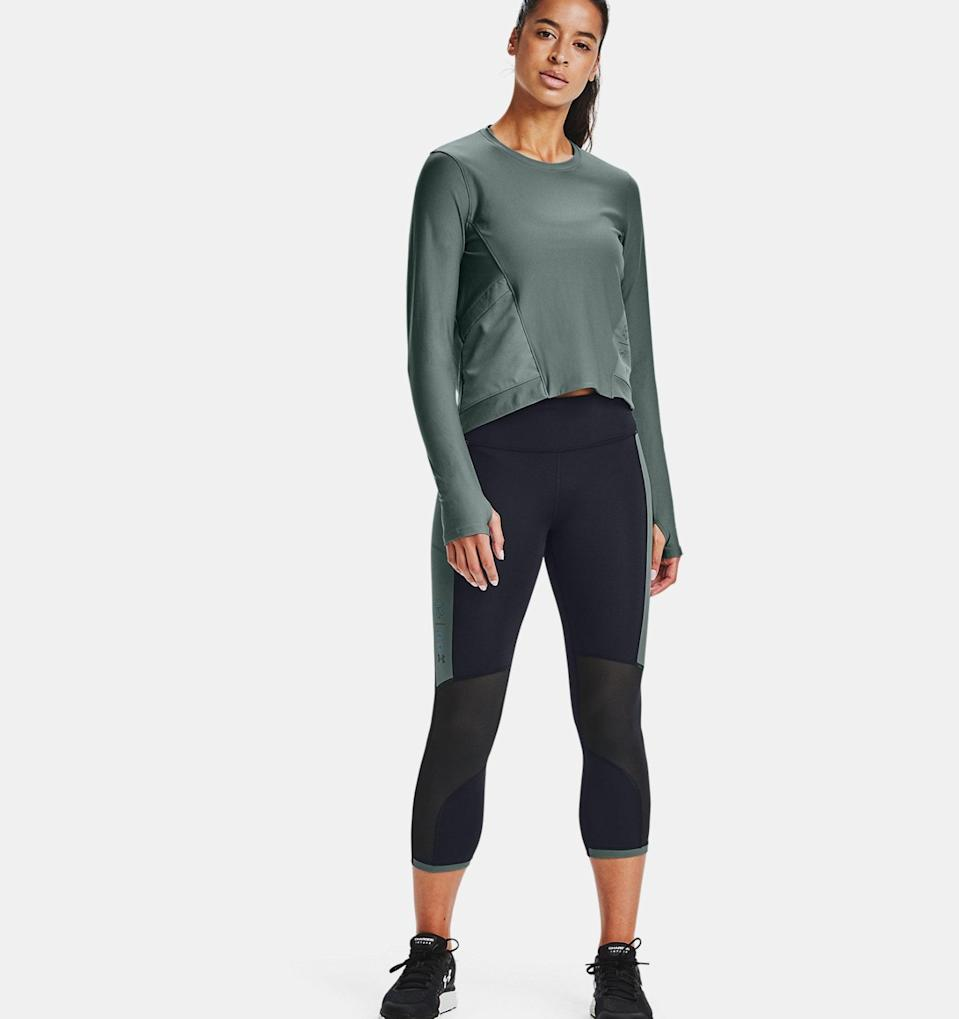 <p>These colorblocked <span>Under Armour Run Anywhere Crop</span> ($49, originally $65) leggings are perfect for summer.</p>