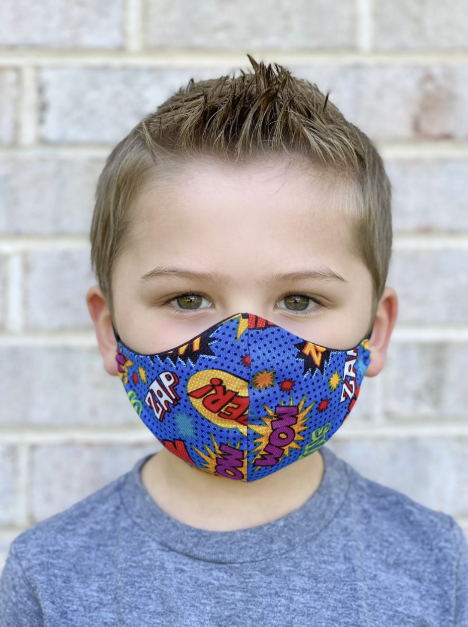 The best face masks for kids in Canada: Kids Over the Head Elastic Face Mask (Photo via Etsy)