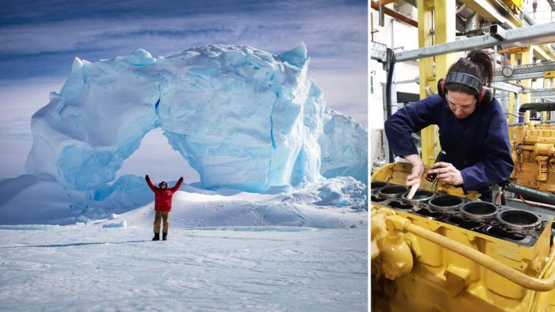 Mechanic Amy Chetcuti just returned from Mawson and Davis research stations. (Images: Australian Antarctic Division)
