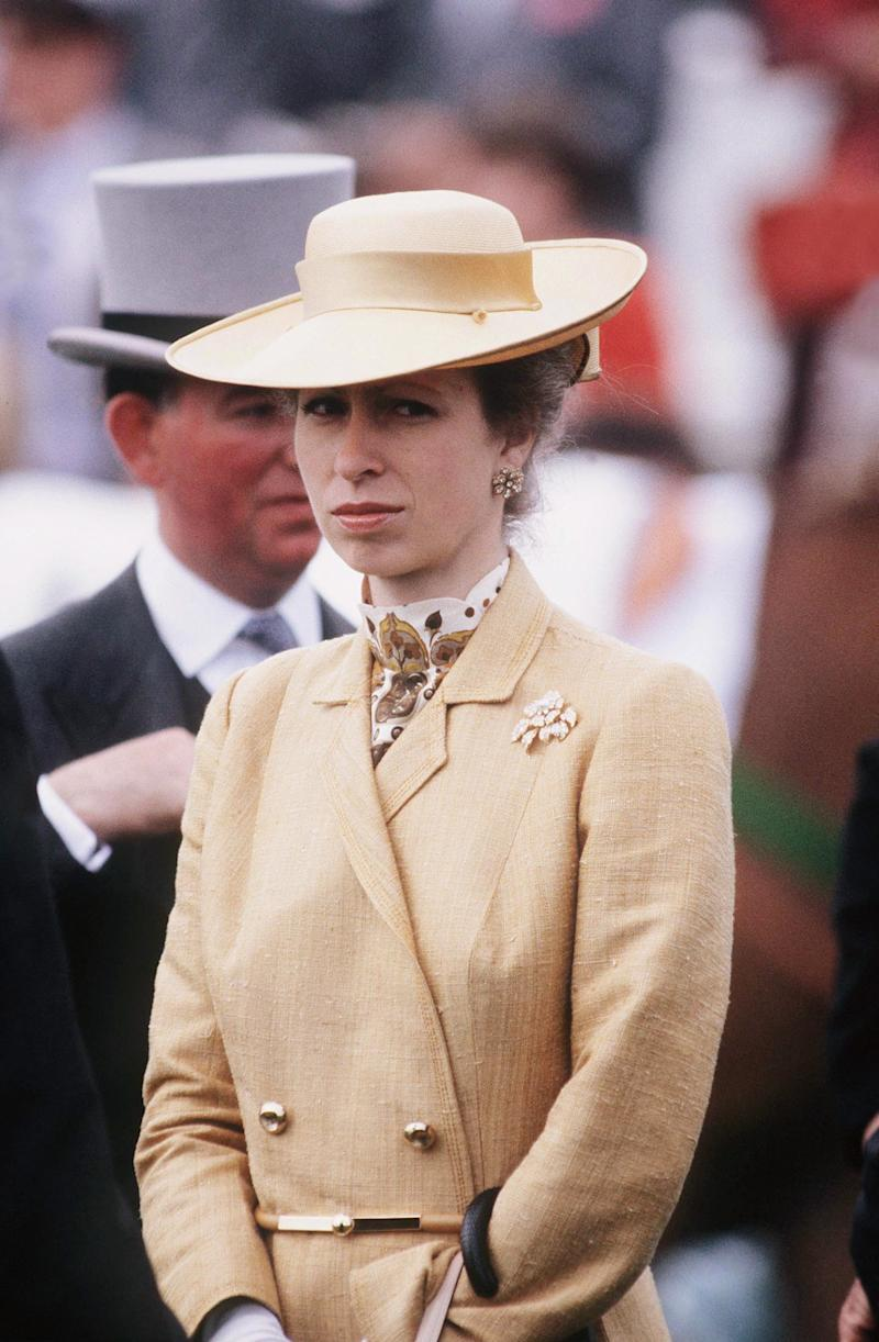 Princess Anne at the Derby in Epsom, 1983.