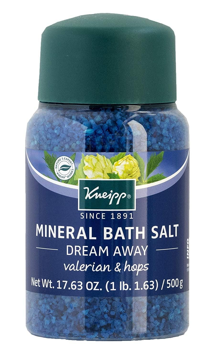 """<p>The valerian in this <span>Kneipp Dream Away Mineral Bath Salt</span> ($20) may just <a href=""""https://www.popsugar.com/fitness/best-supplements-for-anxiety-48178282"""" class=""""link rapid-noclick-resp"""" rel=""""nofollow noopener"""" target=""""_blank"""" data-ylk=""""slk:help quiet those racing thoughts"""">help quiet those racing thoughts</a> that keep you up at night.</p>"""