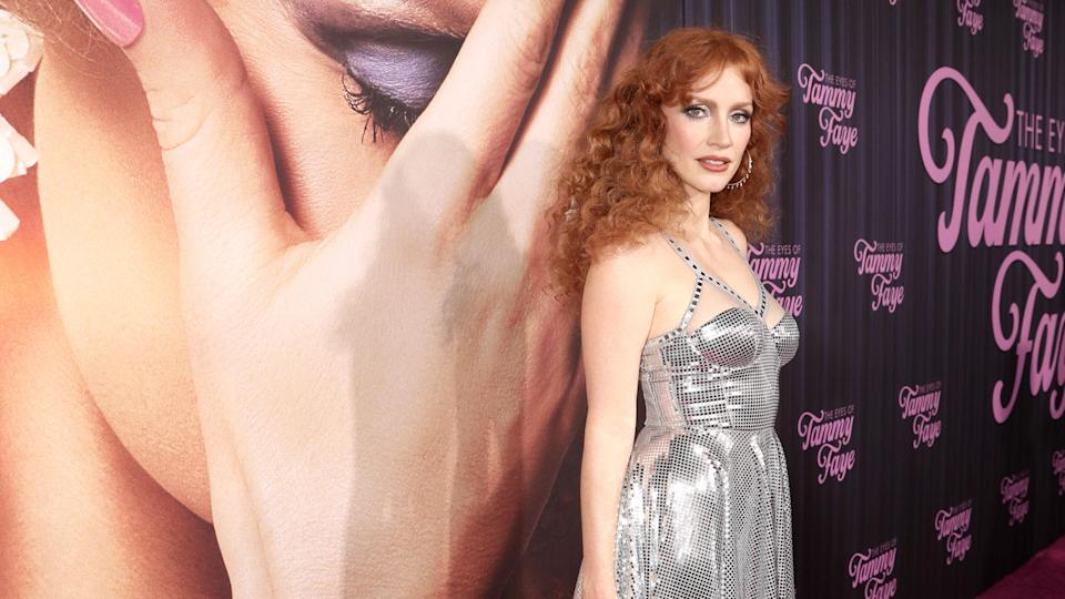 """Jessica Chastain attends Searchlight Picture's """"The Eyes of Tammy Faye"""" New York Premiere on Tuesday, September 14, 2021. - Credit: Todd Williamson/January Images"""