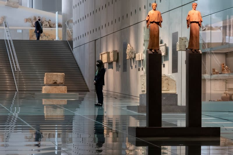 FILE PHOTO: Greek museums open following the easing of measures against the spread of coronavirus disease (COVID-19), in Athens