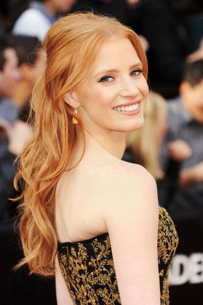 HOLLYWOOD, CA - FEBRUARY 26: Actress Jessica Chastain arrives at the 84th Annual Academy Awards held at the Hollywood & Highland Center on February 26, 2012 in Hollywood, California. (Photo by Jason Merritt/Getty Images)