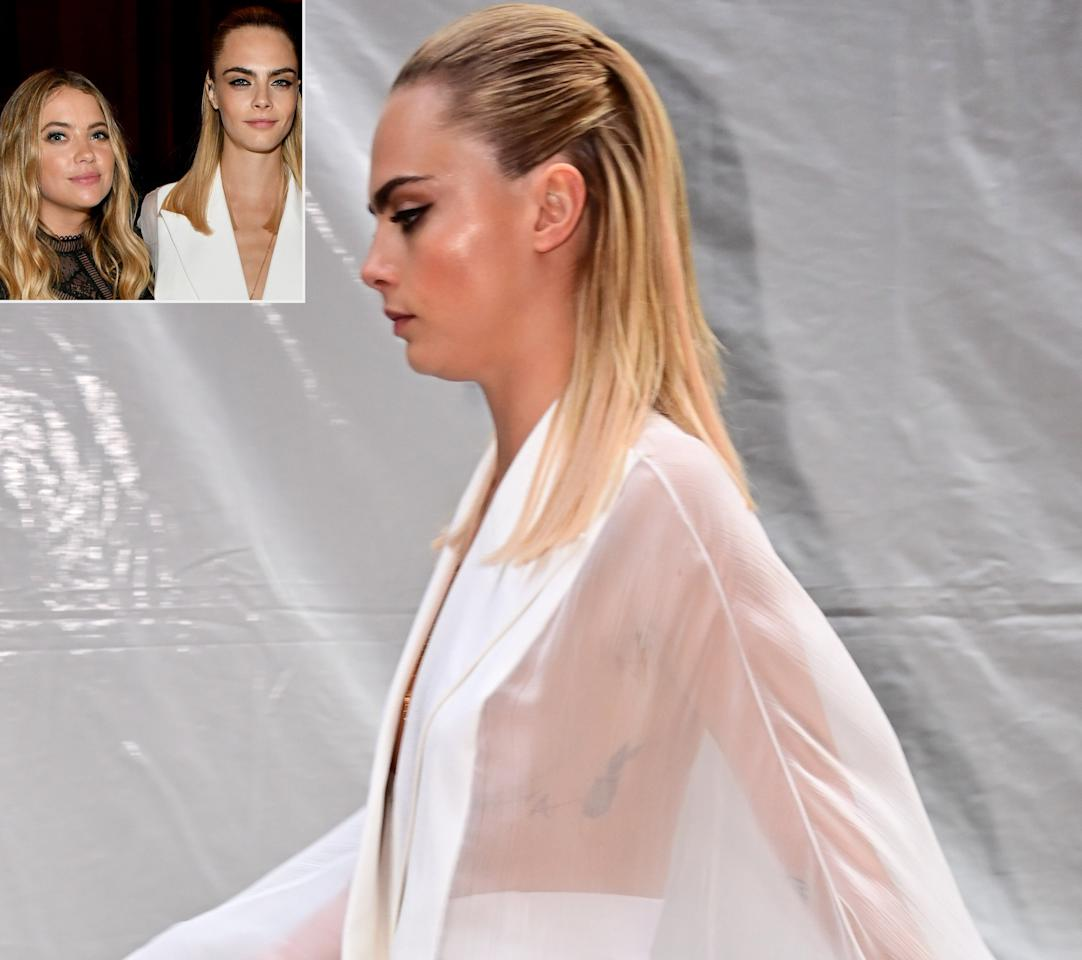 """<strong>Status:</strong> Loved Up!  <a href=""""https://people.com/tag/cara-delevingne/"""">Cara Delevingne</a> and <a href=""""https://people.com/tag/ashley-benson/"""">Ashley Benson</a> are clearly getting serious and fans are taking notice. The pair has been <a href=""""https://people.com/style/cara-delevingne-ashley-benson-bond-nyc-before-met-gala/"""">linked</a> since August 2018, but only <a href=""""https://people.com/style/cara-delevingne-confirms-relationship-with-ashley-benson/"""">confirmed their relationship</a> (after a whole year of dating!) in June 2019. Now they're allegedly immortalizing it in ink. Benson posted a photo showing off a <a href=""""https://www.instagram.com/p/B0OZlB-BMPR/"""">'CD' tattoo</a> on Instagram, which, <em>coincidentally</em>, are her girlfriend's initials. Eagle-eyed fans also spotted a similarly placed 'A' tattoo on Delevingne's ribcage when she stepped out in a see-through gown at the 2019 TrevorLIVE New York Gala. Could it all be a crazy coincidence?! Neither of the women have confirmed that the tattoos are their initials, but that won't stop the speculation."""