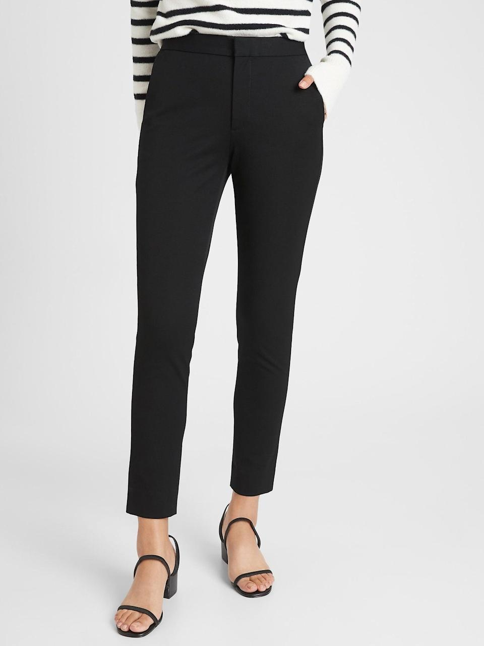 <p>These <span>Banana Republic High Rise Slim Ankle Bistretch Pants</span> ($24, originally $80) will make you look and feel confident.</p>