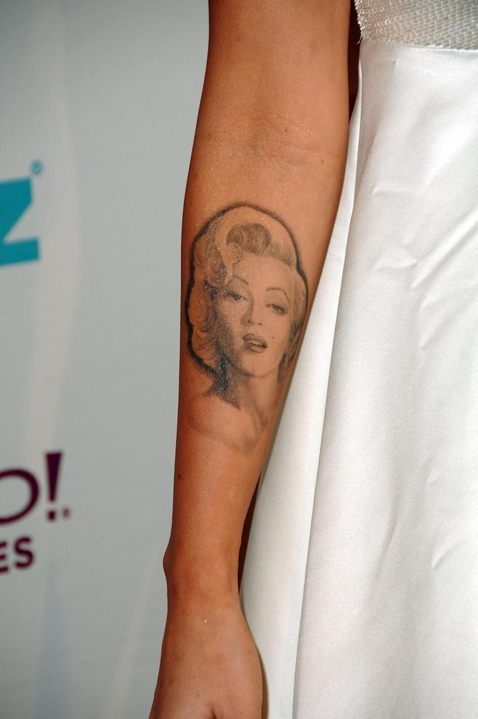 <p>Perhaps Fox's most well-known tattoo is her portrait of Marilyn Monroe. Located on the inside of her right arm, Fox got the ink when she was 18 years old because she idolized the icon. However, in 2011, Fox decided to get it removed (more on that later). </p>