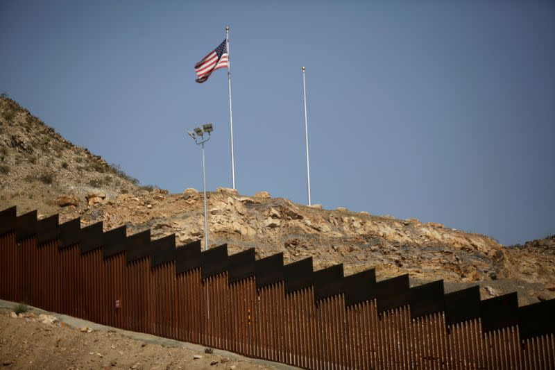 "FILE PHOTO: A border wall section allegedly built with money from Trump supporters who donated in the crowdfunding campaign called ""We Build the Wall"" is seen in Ciudad Juarez"
