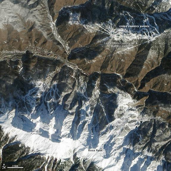 Sochi Slopes Seen from Space (Photo)