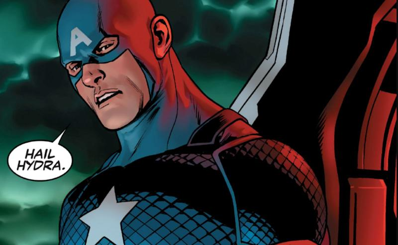 "When Captain America utters, ""Hail Hydra"" in the elevator, he's not only referencing the 'Civil War' movie but also a controversial storyline from the comics. (Image: Marvel Entertainment)"