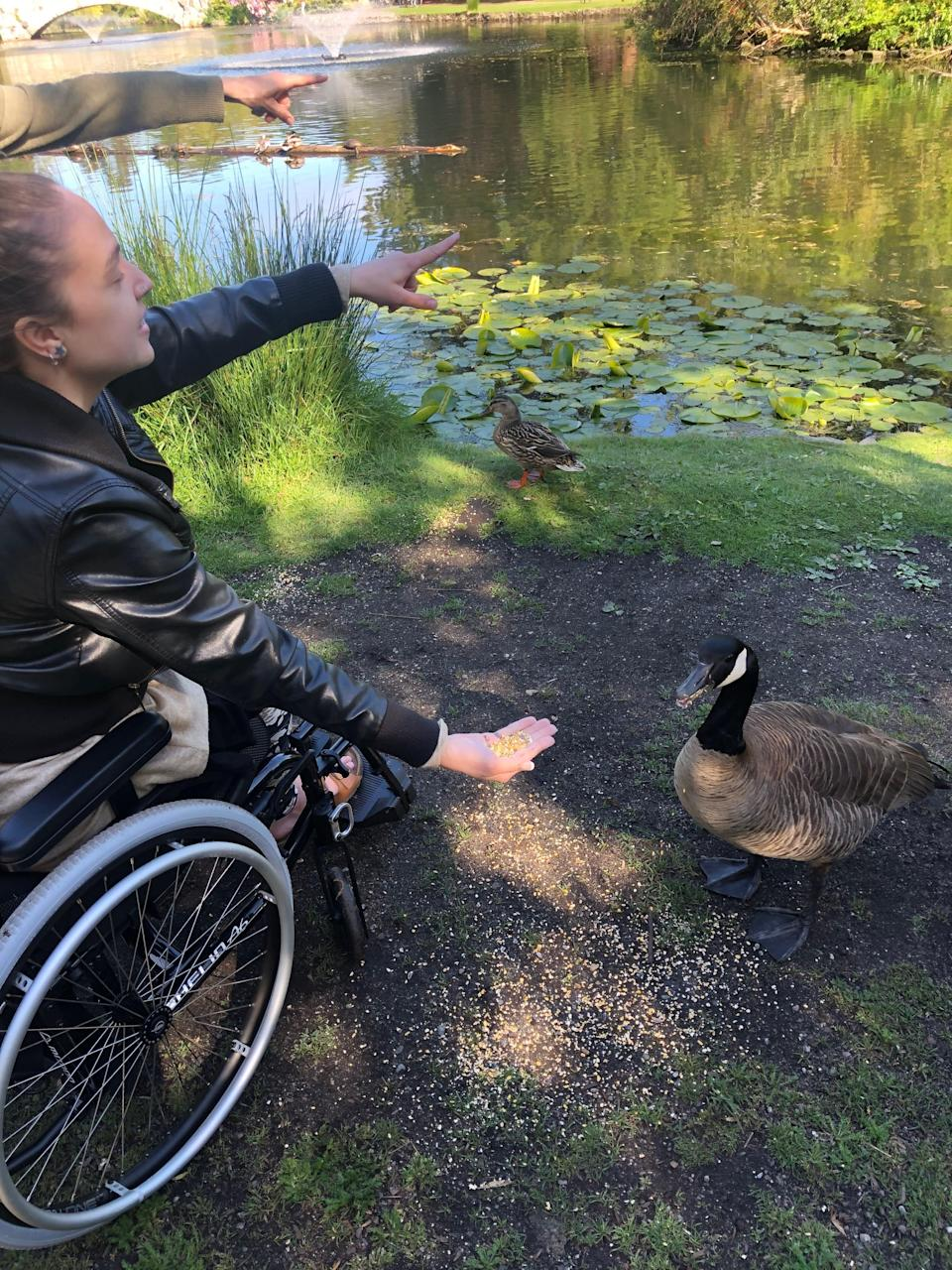 """""""I live a beautiful life,"""" Chase Nadine says. """"I don't want mywheelchairto factor into a person's opinion of me."""""""