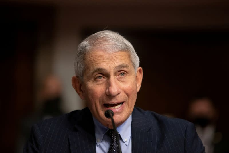 FILE PHOTO: Fauci, Redfield testify at U.S. Senate hearing on coronavirus response in Washington