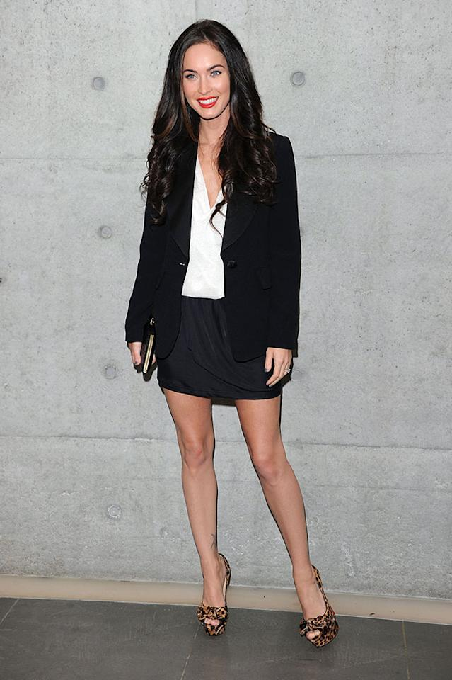 Megan Fox attends  the Emporio Armani Spring/Summer 2011 fashion show during Milan Fashion Week Womenswear on September 25, 2010 in Milan, Italy.