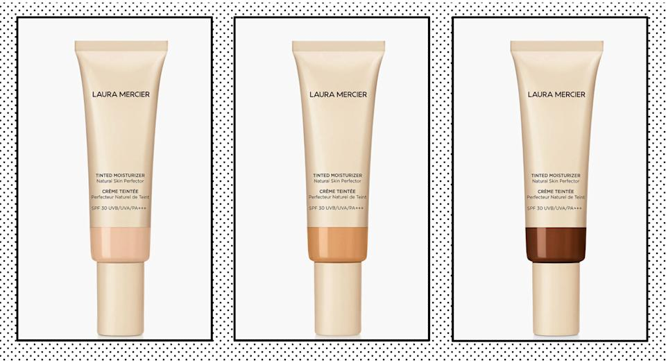 Laura Mercier's Tinted Moisturiser with SPF 30 is the beauty products thousands of customers are lusting after. (Getty Images)